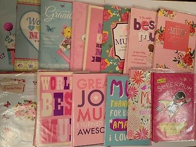 Bundle of 28 Job Lot Of Assortment of Good Quality Mothers Day Large Cards