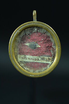 Fine antique 19THc Reliquary St Ann Mother of the Virgin Mary