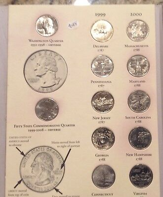 US Fifty State Commemorative Quarters Set 1999-2008