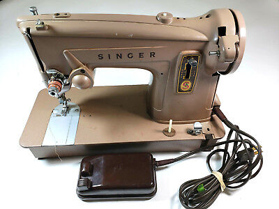 Vintage Singer 329K Sewing Machine 13608M Works Comes with Attachments