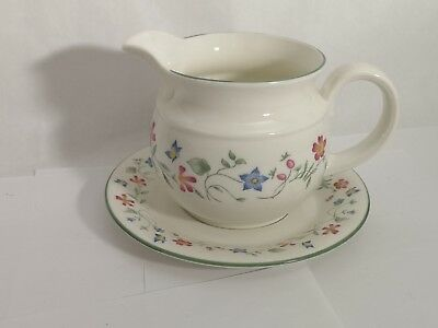 Royal Doulton Florentina Expressions Gravy Boat & Underplate / Saucer - EXC.