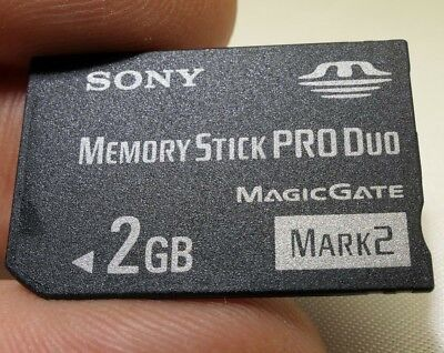 Sony 2GB Memory Stick PRO Duo Card Mark 2 Two - Genuine Original - MSMT2G