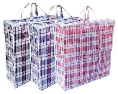 Reusable Jumbo Laundry Bags Zipped Large Strong Shopping / Storage Bag
