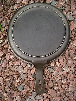 Antique Fully Restored # 8 Cast Iron Round Griddle