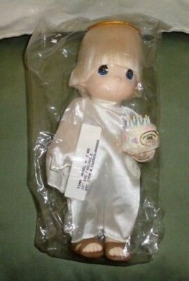 Precious Moments1999 Timmy Angel Chapel 10th Anniversary Doll w/Cake New w/Tags