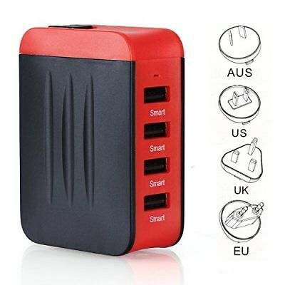 Adaptador de viaje Universal para Enchufes UK / US / AU / EU,C 4 dispositivos