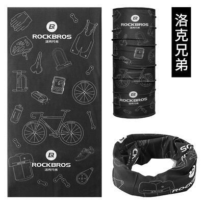 RockBros Black Cycling Multi-function Scarf Headwear Neck Warmer Headband TJ-001
