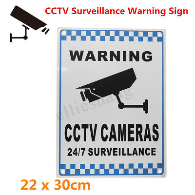 Aluminium Warning Security Video CCTV Camera Surveillance Safety Sign Reflective
