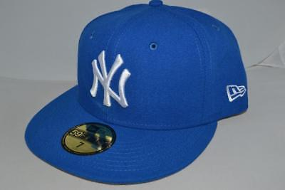 d5ef41791c6 New Era New York Yankees Basic Mlb Fitted Cap Hat 59Fifty Authentic Blue
