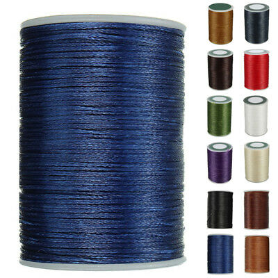 1pc 78M Waxed Sewing Thread 0.8mm Leather Hand Thread Stitching  String Cord
