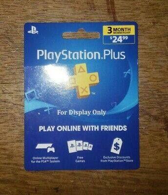 Sony 3-Month Playstation Plus Membership - PS3/ PS4/ PS Vita