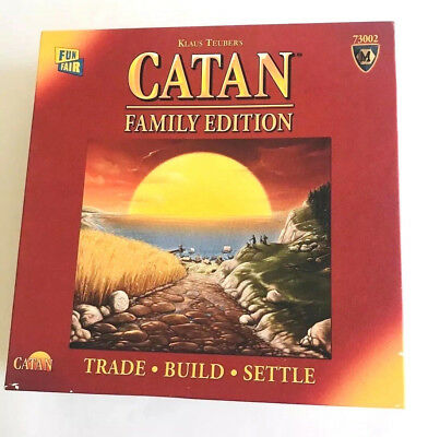 Catan Family Edition Board Game Mayfair Games Trade Build Settle 73002