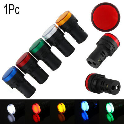 5V 12V 24V 110V 220V LED Indicator Pilot Light 22mm Signal Lamp Panel Mount