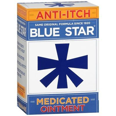Blue Star Medicated Anti-Itch Ointment - 2 OZ (2 Packs)