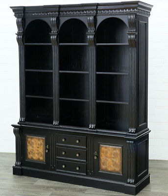COLONIAL BIBLIOTHEK großer REGALSCHRANK LIBRARY BOOKCASE MASSIVHOLZ REGAL MÖBEL