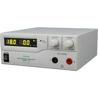 HCS3104 MANSON 1-60Vdc 2.5A Lab. Power Supply Remote Programmable 3 User Defined