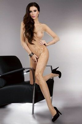 "LIVCO BODYSTOCKING CATSUIT NETZ BODY REIZWÄSCHE STOCKING ""Khryseis"" S/M/L"