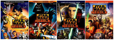 Star Wars Rebels The Complete Animated Series Jedi Cartoon All Seasons 1-4 DVD