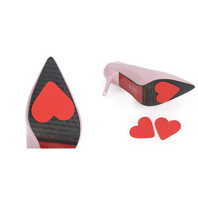 12pcs Self-Adhesive Stick on Shoe Grip Pad Red Heart Non-slip Sole Protector