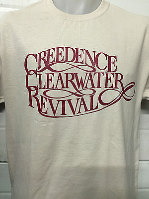CREEDENCE CLEARWATER REVIVAL KHAKI LOGO SHIRT  the eagles poster ALL SIZES