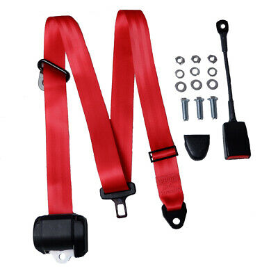 3 Point Ceinture Automatique de Sécurité Universel Rouge M la Sangle