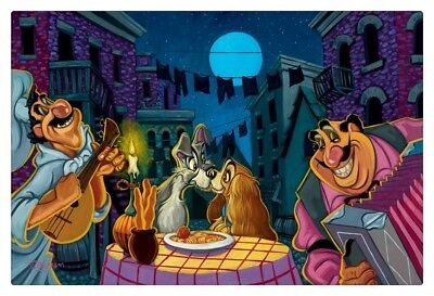 Disney Lady and the Tramp HD Canvas Print Painting Home Decor Wall art 12x18""