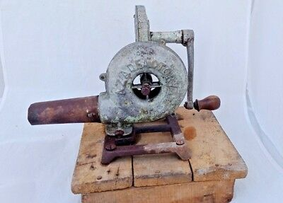 1900's OLD BLACKSMITH AZAD FACTORY FORGE BLOWER VINTAGE ANTIQUE COLLECTIBLE