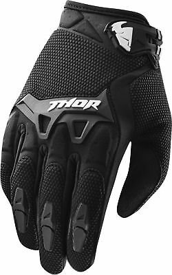 Thor Spectrum Youth Gloves Black Kids Junior Motocross Bmx Cheap Off Road Boys