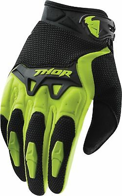 Thor Spectrum Youth Gloves Green Kids Junior Motocross Bmx Cheap Off Road Boys