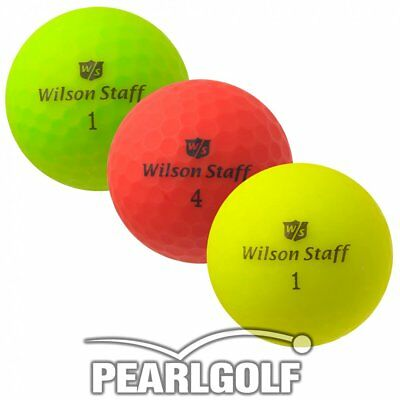 12 Bunte Wilson Staff Duo Soft Optix Mix - Golfbälle - Aaaa-Aaa - Lakeballs