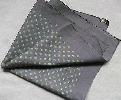 Vintage Handkerchief SILK Hankie Mens Top Pocket Square ASCHER