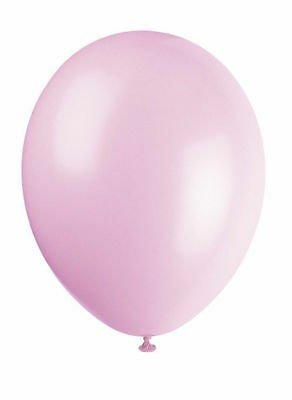 "10 x Blush Pink 12"" Latex Balloons Helium Quality Party Decoration Plain"
