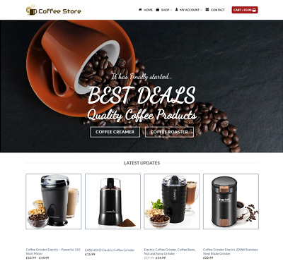 Coffee Shop Website For Sale - Earn £890.00 A SALE. Free Domain| Web Hosting