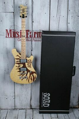 Sozo Z Series Z1LZRNA Electric Guitar Laser Etched Natural with Hardshell Case