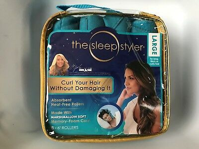 """The Sleep Styler Large Absorbent heat-free rollers 8 - 6"""" Rollers - Large - NEW!"""