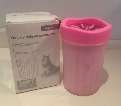 Dog Paw Cleaner - Portable Pet Cleaning Cup With Silicone Brushes - Medium