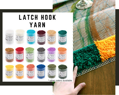 Latch Hook Pre Cut Yarn 250gr - Smyrna Tapestry Yarn - 10 x 25gr Precut Yarn Set