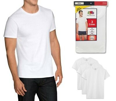 Fruit of the Loom Men's Dual Defense White Crew T-Shirts, 3 Pack