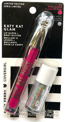 Covergirl Katy Kat Glam Lip Gloss + Body Glitter Limited Edition 05 Kitty Karma