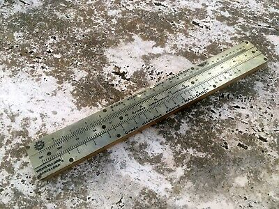VERY RARE ENOL SPANISH ALCOHOLICAL GRADE WOOD SLIDE RULE 40s NICE ORDER
