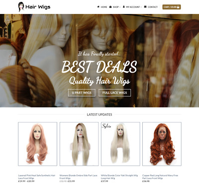 Hair Wigs Website For Sale - Earn £530.00 A SALE. Free Domain| Web Hosting