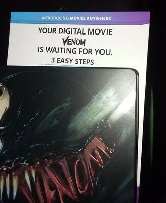 VENOM 2018 MOVIE DIGITAL HD CODE ONLY - NO DVD BLU RAY DISC steelbook version