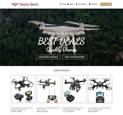 Drones Website For Sale - Earn £490.00 A SALE. Free Domain| Web Hosting