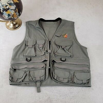 🎣 Fishing Cargo Vest Outdoor Strap Utility Tactical Green