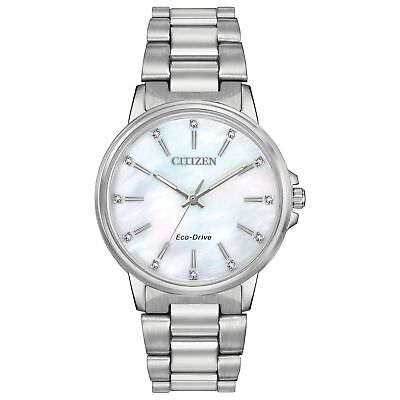 Citizen FE7030-57D Women's Chandler  White Mother of Pearl Eco-Drive Watch