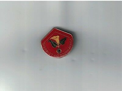 Vintage 1970-1980 Lions Club Enamel Pin District 410 South Africa