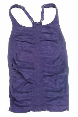 d7bbde019f6ab Athleta Womens Tempo Heather Seamless Tank - Purple Heather Size XS w   defect