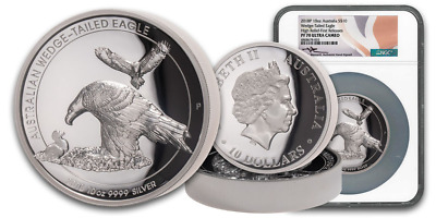 2018 Australian 10-Oz Silver Wedge Tail Eagle Ngc Pf70Uc Fr J.m. Signature