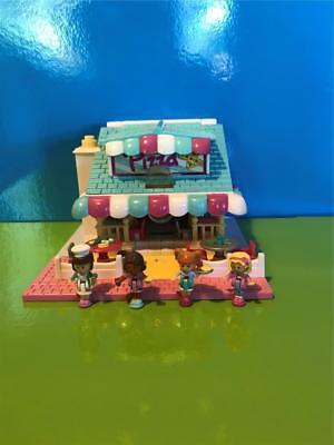 1993 Polly Pocket Light up Pizzeria 100% complete 4 dolls Excellent condition
