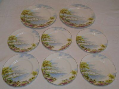 Vtg Paragon England 'Cliffs of Dover' 2 Salad/Dessert & 6 Bread & Butter Plates